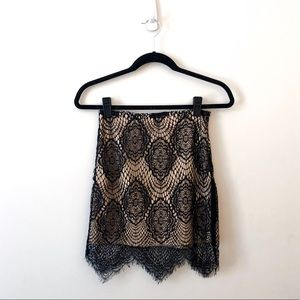 LUXXEL black lace skirt